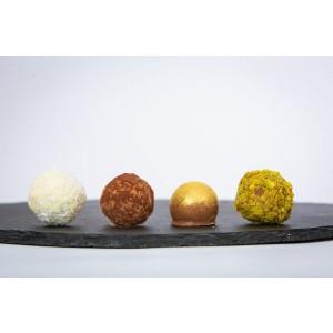 Cutie cu 4 Trufe Asortate de Ciocolată – Maximilian Chocolat